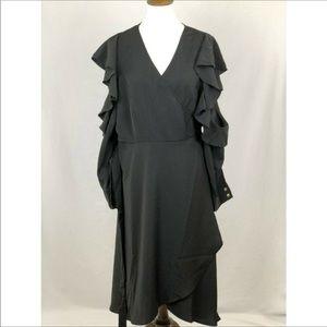 NWT Eloquii Cold Shoulder Wrap Dress